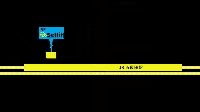 セルフィット五反田駅前店の地図