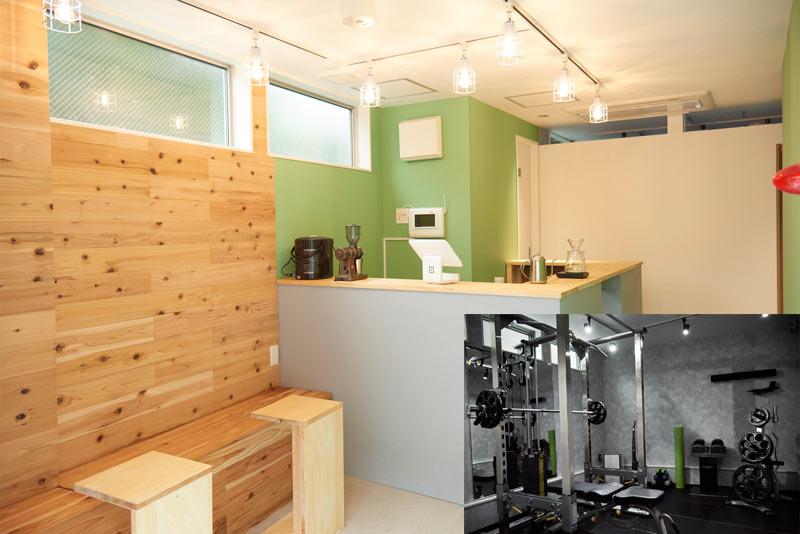 オシャレなジムカフェ併設高品質マシン完備・シャワー完備